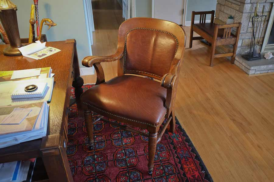 photo of 573 Armchair, purchased by Cass Gilbert for the 1905 Minnesota State Capitol