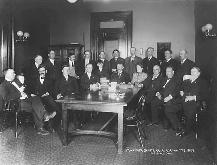 photo of Minnesota Senate Railroad Committee at an N Work Table in the Capitol, 1909 ©Minnesota Historical Society