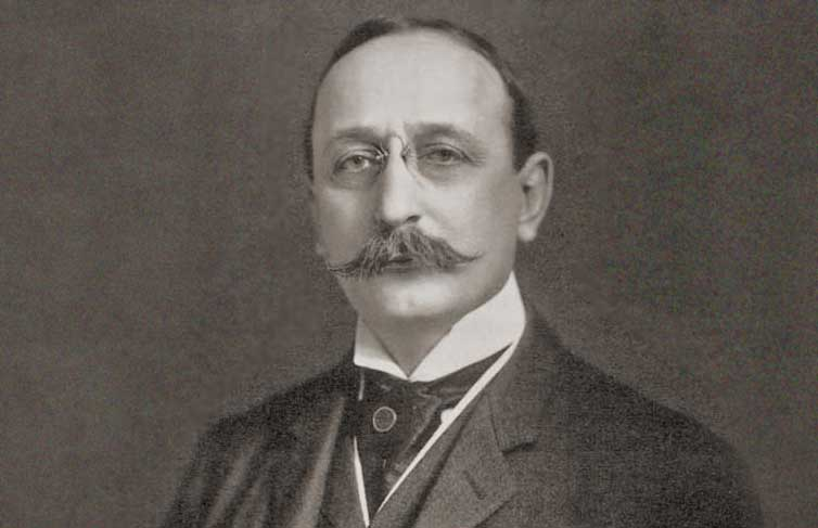 vintage image of photo portrait of Cass Gilbert taken by Pach - from NYHS collection
