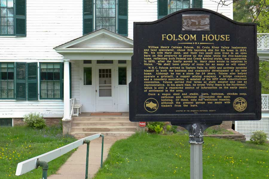 Folsom House Historic Site in Taylors Falls, MN, where two 1087 Armchairs purchased for the 1905 Minnesota State Capitol are located. Minnesota Historical Society site.