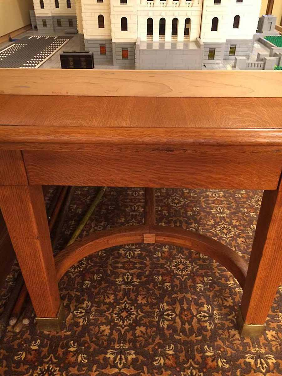 N Work Table in the State Capitol, designed by Cass Gilbert for the 1905 Minnesota State Capitol, milled wood