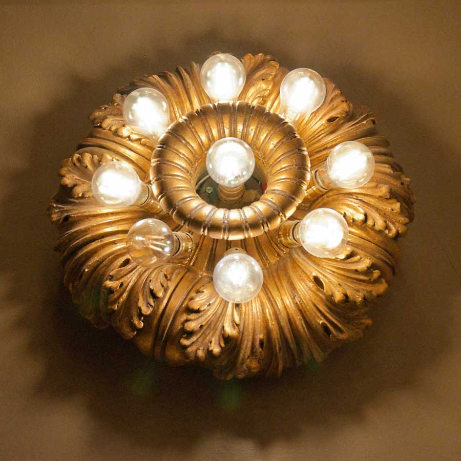 photograph of lighting fixture in Minnesota State Capitol - designed by Cass Gilbert